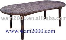 patio garden aluminum PE rattan dining table