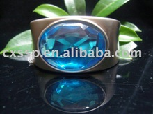 Ocean Blue Diamond Bangle
