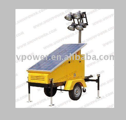 Torre de luz solar/torre deiluminação móvel