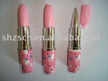 lipstick pen/plastic ball pen/colorful ball pen/cute pen