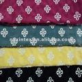 algodão bordado margarida tecido terry