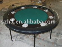 round poker table/Cupholders stainless steel