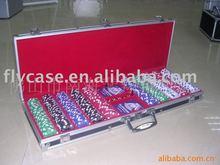 2013 new design aluminium chips case ,poker set and500 holds poker set .