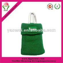 Mobile phone holder bag with PVC logo