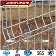 Galvanized weld mesh security fence