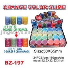 Sell change color barrel oil slime toys