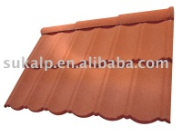 Colorful Stone Chip Coated Metal Roof Tile