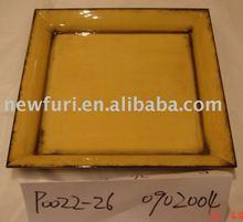 Square plastic storage tray