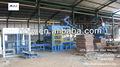 bloque de hormigón que hace la máquina de la planta en zambia
