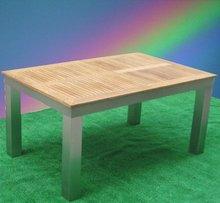 2012 new style teak wood table aluminum furniture