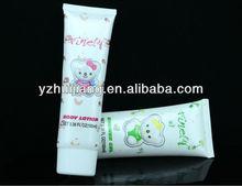plastic packaging tube for bubble bath.body lotion,shower gel in oval shape