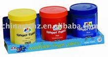 Washable Finger Paint Set - 3 color finger paint set fully washable - finger color set