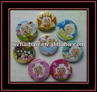 plastic pin badge