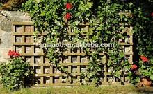 wooden garden trellis, outdoor wooden fence, square wooden lattice/trellis square
