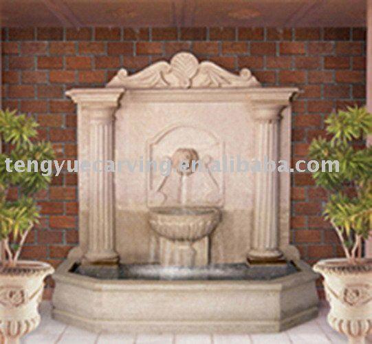 Exterior de piedra natural fuentes de la pared productos - Fuentes de pared de piedra ...