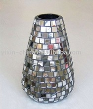 Exotic Crystal brown handmade glass mosaic vase