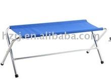Folding metal camping bench