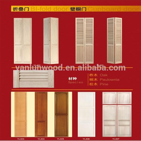 cheapest with hardware radiata pine double louver folding wardrobe door designs