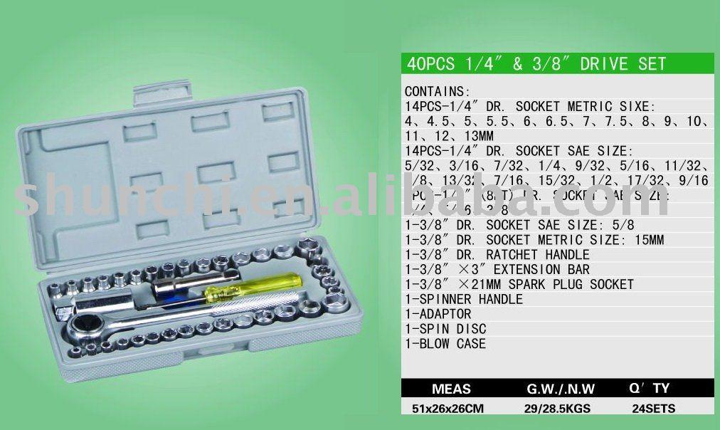 40 PCS auto emergency tool kit