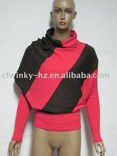ladies 100% cotton turtleneck knitting clothes