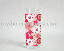 Logo water glass with flower design