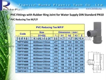PVC Pipe Fittings PVC Rubber Joint Fitting for Water Supply