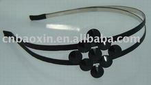 2013 Fashion Korean Black Hair Clip Ribbon Plastic Flower Girl Hair Band