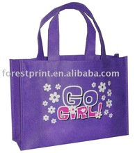 purple non woven shopping bags