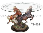 home furniture,horse table with glass top