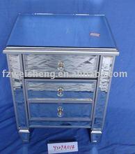 Mirrored 3-drawer Chest/Nightstand