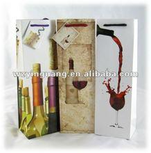 Attractive design paper wine bags