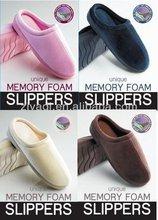 High Quality Velvet Men's Memory Foam Slipper