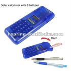 novel magic box calculator with 3 ball pen