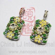 custom crystal flower pen drive, OEM Jewelry usb drive, OEM promotion jewellery flash drive