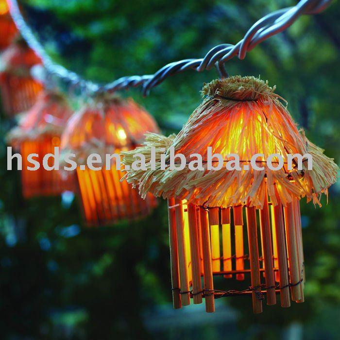 Metal lantern string light set outdoor patio lights party tiki tiki lights illumination fl aloadofball Gallery