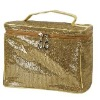 fahion sequin makeup case with handle