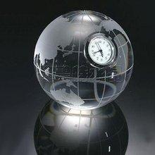 unique design cheap crystal globe glass clock