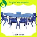 Niños LLDPE plástico un escritorio y una silla, Jardín de infantes muebles