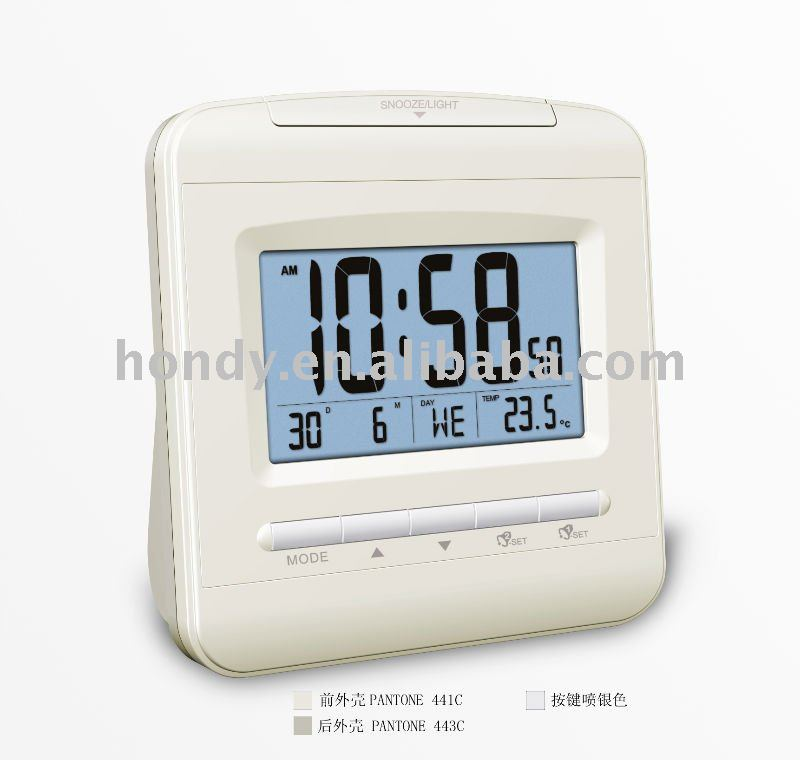 radio controlled alarm clock buy clock digital clock travel alarm clock product on. Black Bedroom Furniture Sets. Home Design Ideas