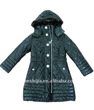 kid's long coat (wadded jacket , apparel )