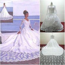 2012 Lace vintage white wedding dresses