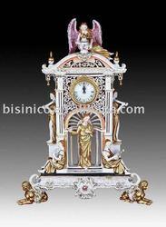 European Antique art angel table clock,home decoration ceramic, pottery, porcelian,MOQ:1PC(B15035)