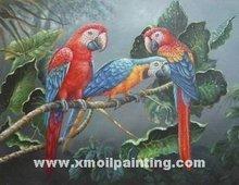 oil painting,unique parrot oil painting