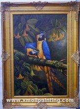 unique parrot oil painting