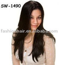 Long black brazilian wigs/8''-26'' Length Cheap Fashion Synthetic Wigs