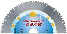 """V"" slot segmented diamond blade for fast cutting hard & dense material -- GEAW"