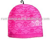 fashion jacquard teenagers knitted beanie hats