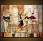 Modern Art - African Dance people Oil Painting