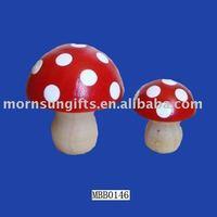 Mushroom novelty clay garden ornaments