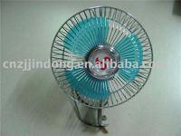 6 plastic oscillating metal car fan